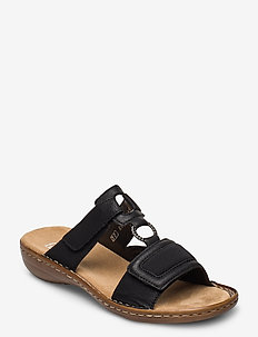 608N9-00 - flat sandals - black