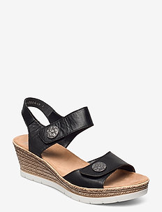 619B9-00 - heeled espadrilles - black