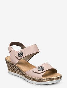 619B9-00 - heeled espadrilles - rosa