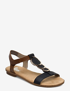 64278-00 - flat sandals - blue combination
