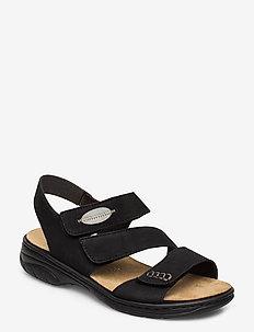 64573-00 - flat sandals - black