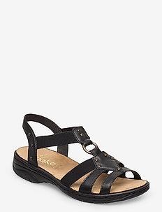 64574-00 - flat sandals - black