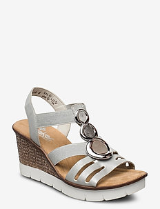 65540-40 - høyhælte sandaler - grey