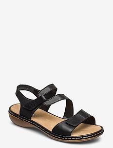 659C7-00 - flate sandaler - black