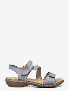659C7-00 - platta sandaler - blue