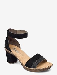 66534-90 - högklackade sandaler - black