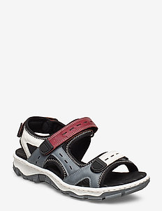 68872-13 - flat sandals - blue combination