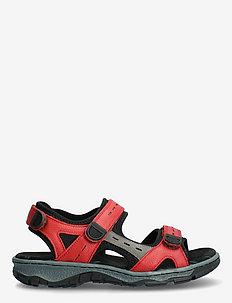 68872-13 - platta sandaler - red