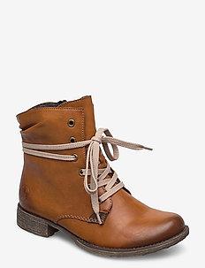 70829-24 - ankelstøvler med hæl - brown