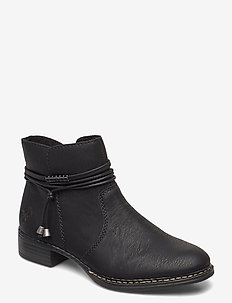 73488-00 - flat ankle boots - black