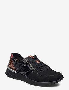 N8024-00 - lave sneakers - black leopard