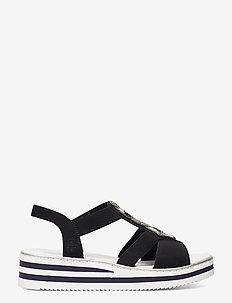 V02G9-00 - platta sandaler - black
