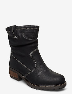 Y0463-00 - ankle boots with heel - black