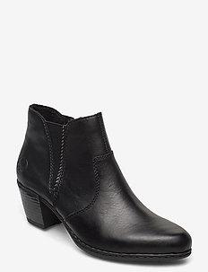 Y2170-01 - ankelstøvletter med hæl - black