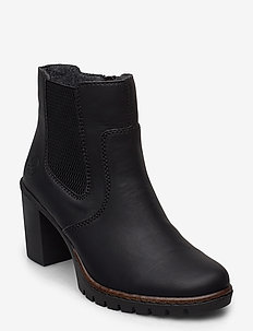 Y2574-00 - ankle boots with heel - black