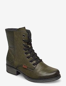 Y9718-52 - wysoki obcas - green