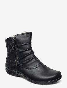 Z4663-01 - flate ankelstøvletter - black