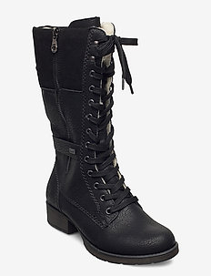 Z9593-00 - høye boots - black