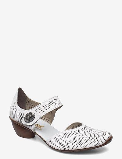 43767-14 - sandalen mit absatz - white