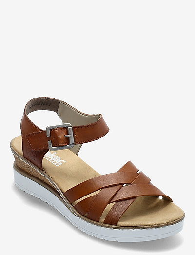 V3863-24 - flache sandalen - brown