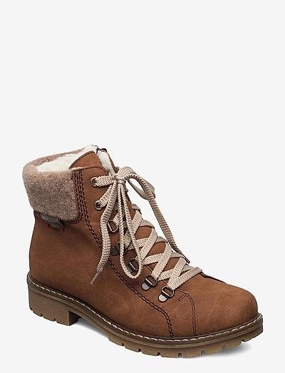 Y9142-22 - flache stiefeletten - brown
