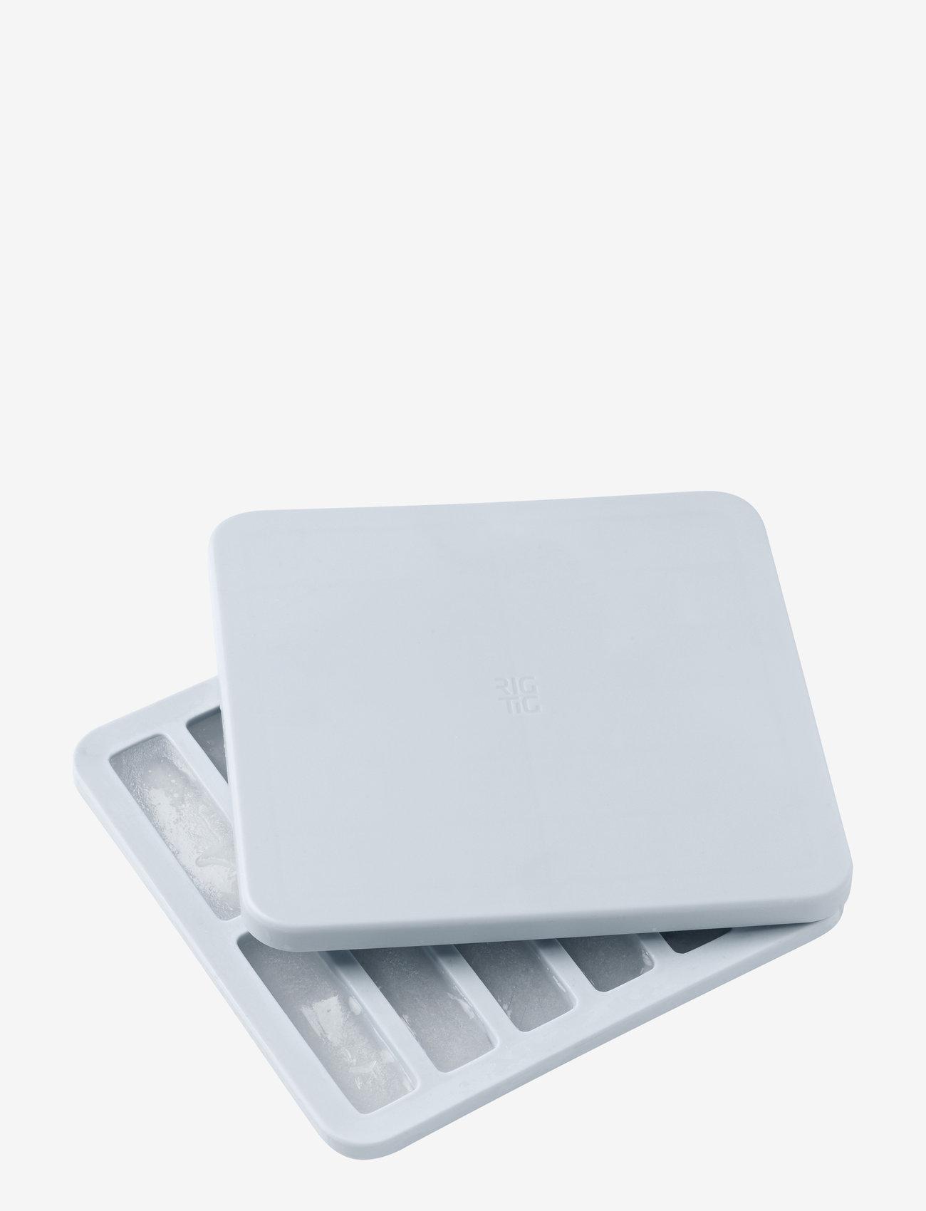 RIG-TIG - FREEZE-IT ice cube tray with lid - jääpalat ja jääpalamuotit - light blue - 1