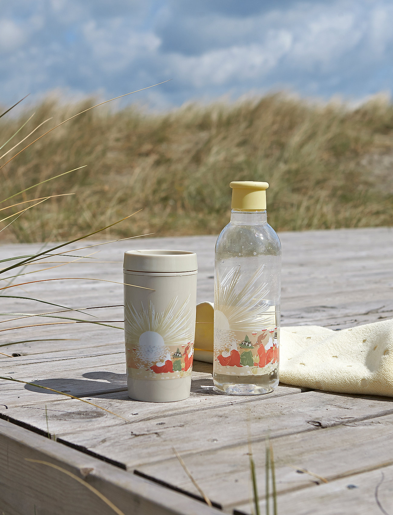 RIG-TIG - DRINK-IT water bottle, 0.75 l. Moomin - vesi- ja lasipullot - yellow - 1