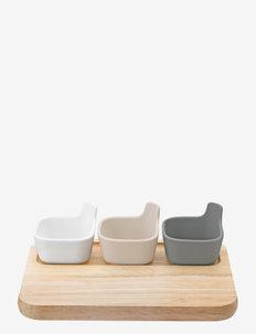 TAPAS serving set - tarjoiluastiat ja -lautaset - wood