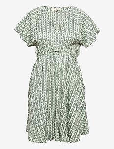 GEO DRESS - sommarklänningar - green