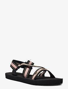 P-LOW PISMO - hiking sandals - black/tan