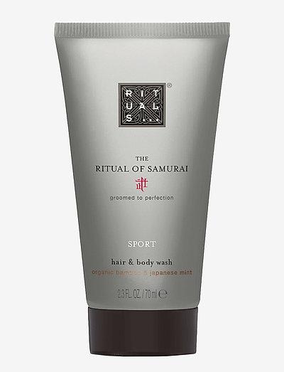 The Ritual of Samurai Hair & Body Wash 70ml - suihku & kylpy - clear