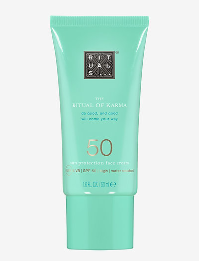 The Ritual of Karma Sun Protection Face Cream 50 - kasvot - clear