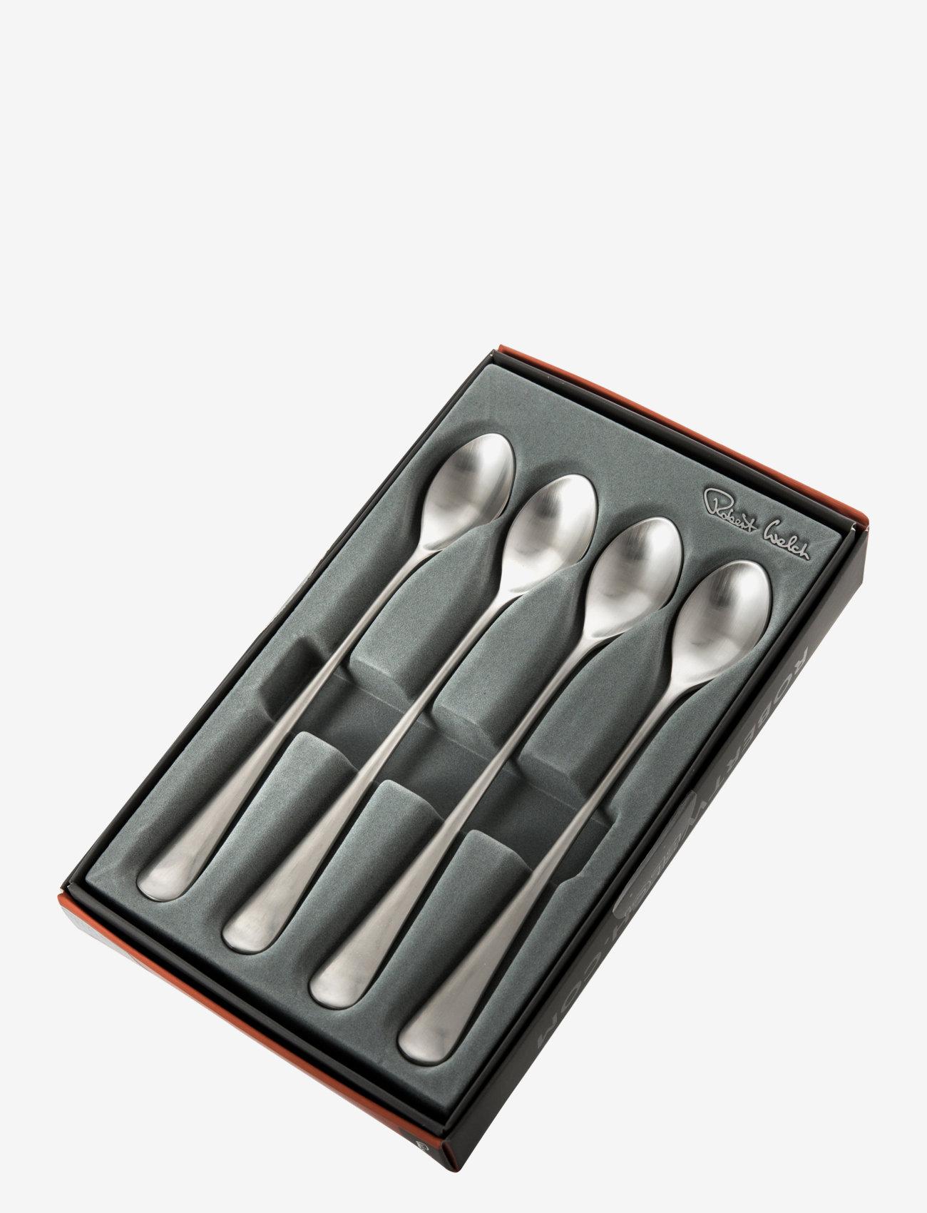Robert Welch - Radford Satin Long Handled (Latte) Spoon, Set of 4 - teskjeer & kaffeskjeer - multi colour - 1