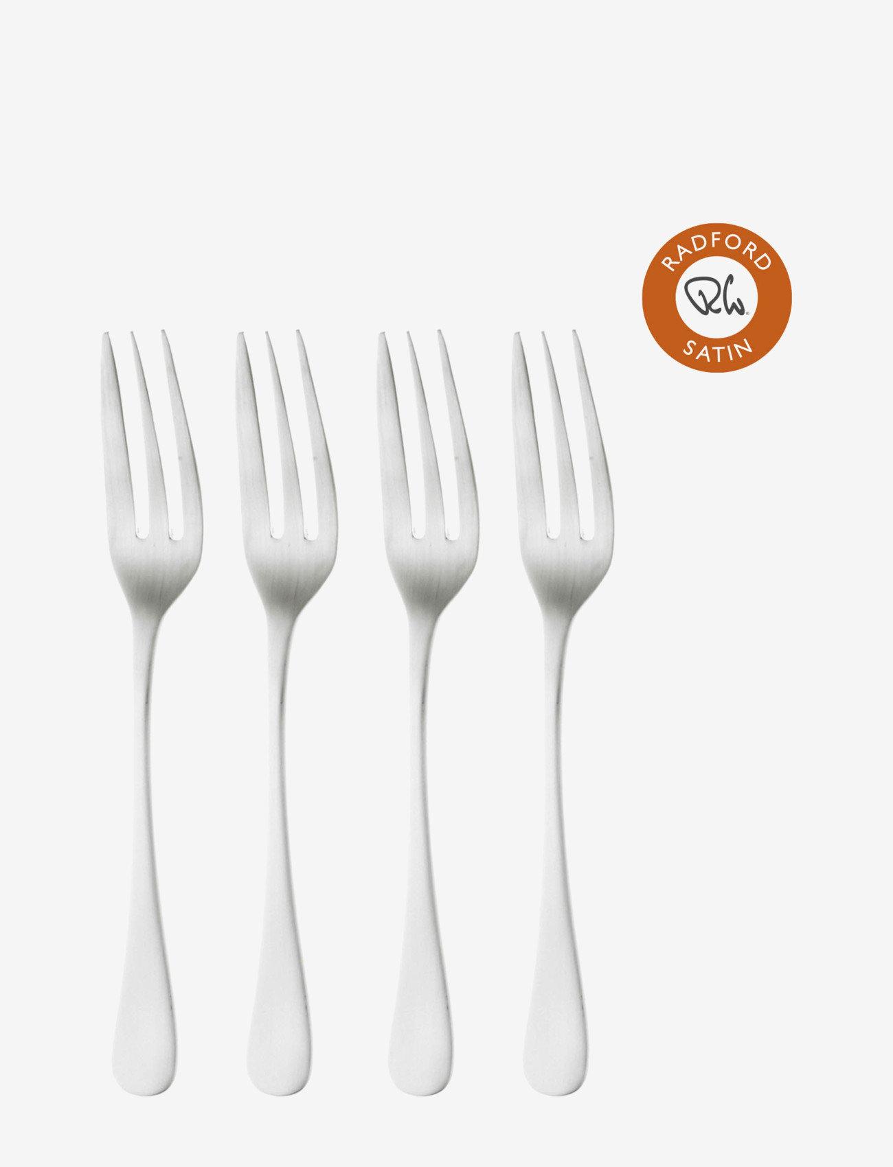 Robert Welch - Radford Satin Pastry Fork, Set of 4 - bestikksett - multi colour - 0
