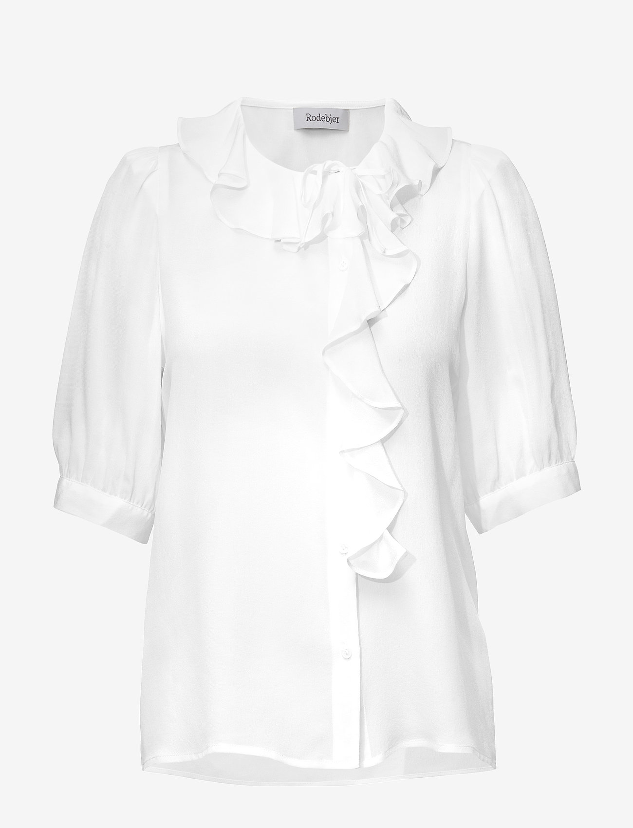 RODEBJER - RODEBJER XILLA SILK - bluzki z krótkim rękawem - off white - 0
