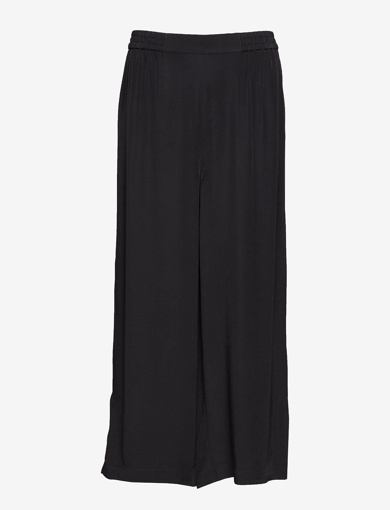 RODEBJER - RODEBJER SIGRID TWILL - bukser med brede ben - black - 1