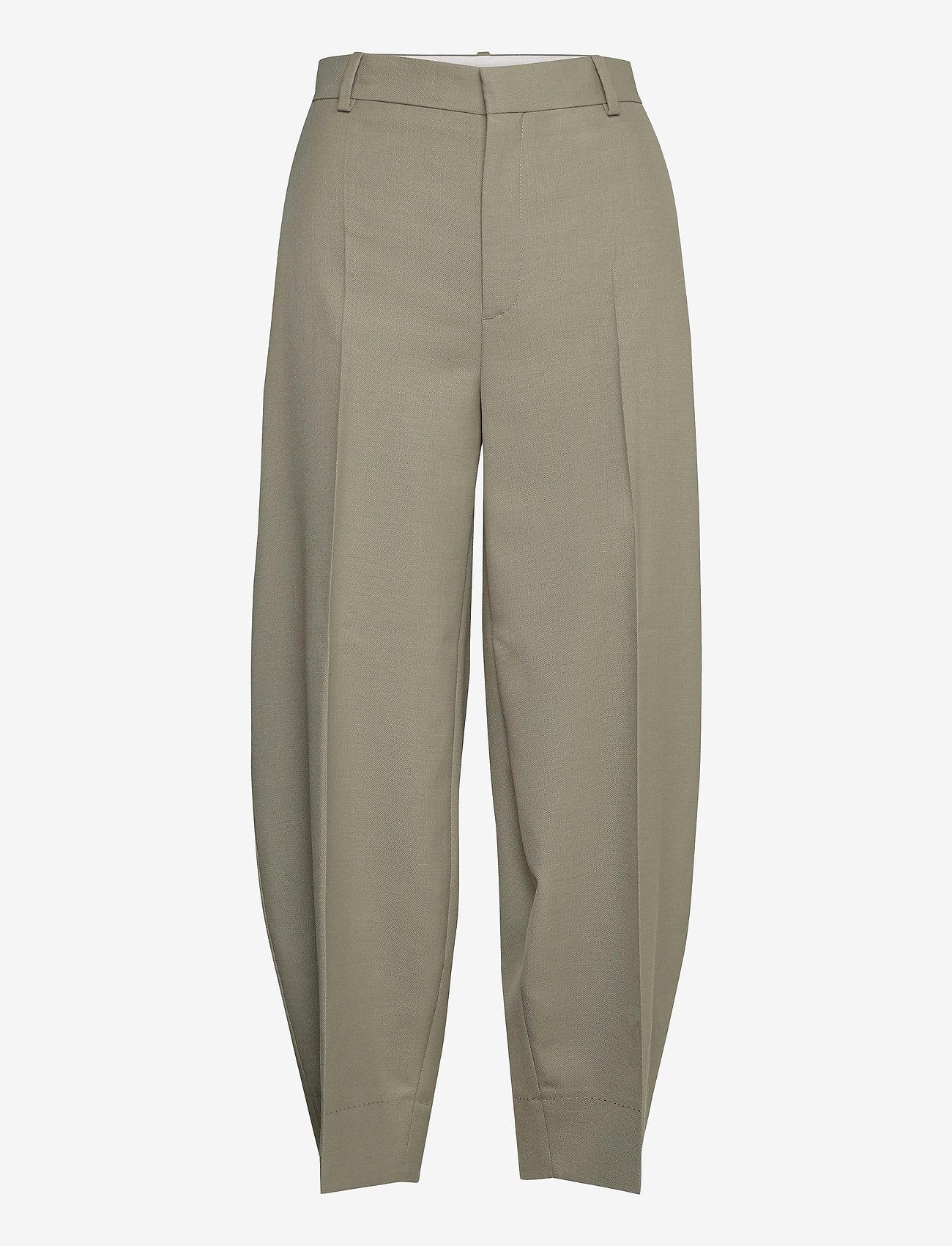 RODEBJER - RODEBJER AIA - bukser med brede ben - olive leaf - 0