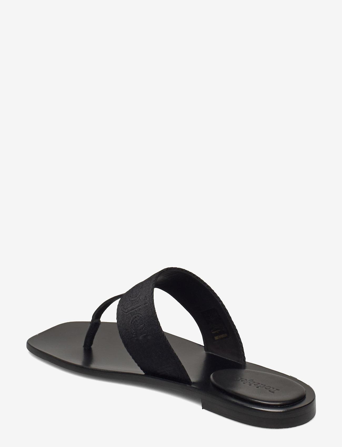 RODEBJER - RODEBJER ROZA - flade sandaler - black - 2