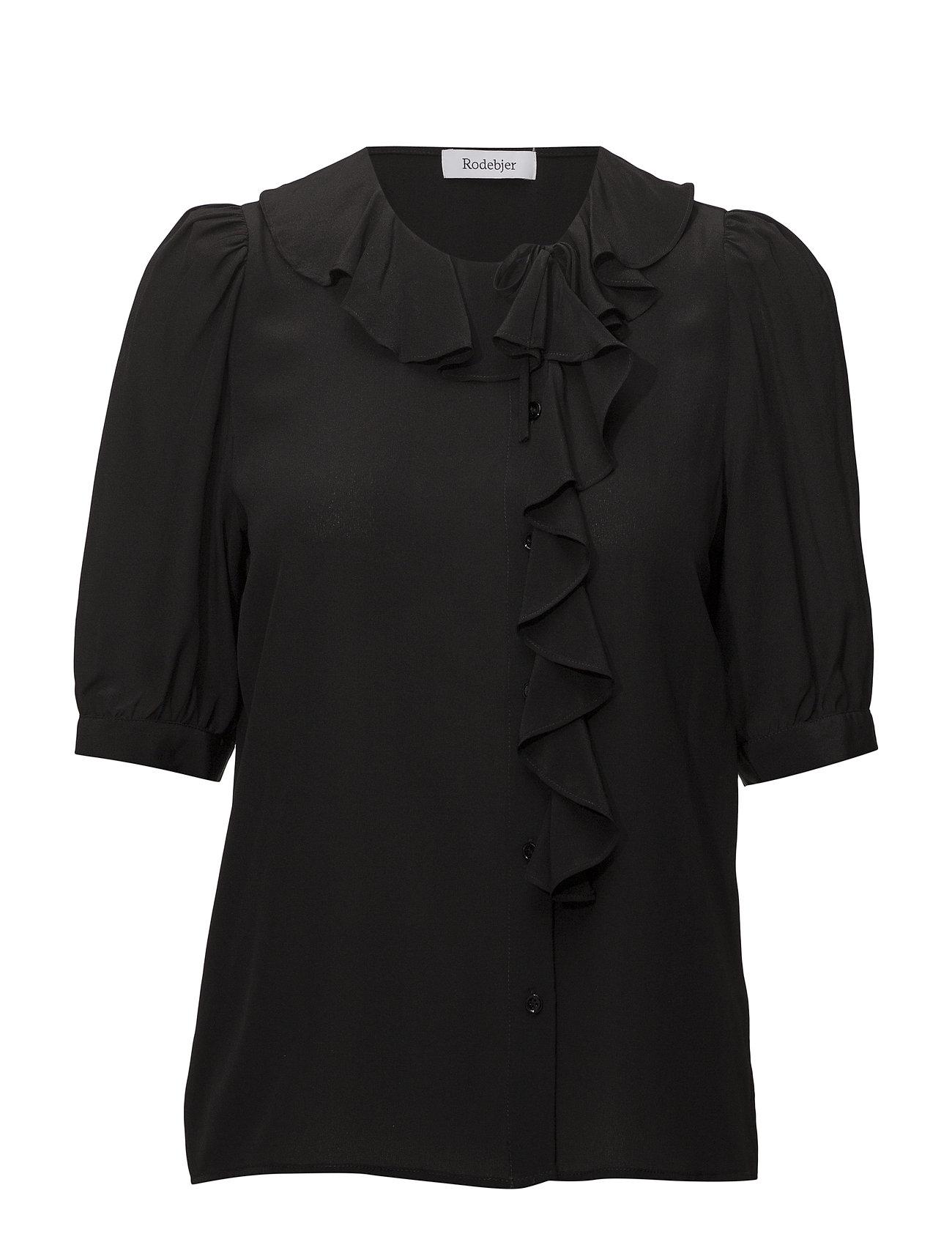 4e30dbe29f4e RODEBJER kortærmede bluser – Xilla Silk til dame i Sort - Pashion.dk