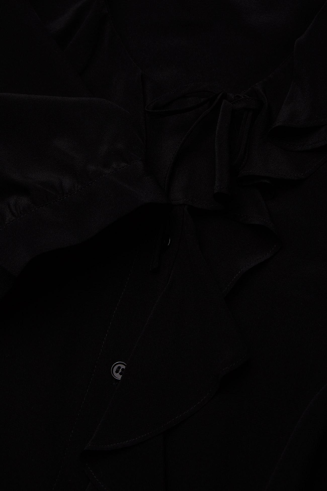 RODEBJER - RODEBJER XILLA SILK - kortærmede bluser - black - 3