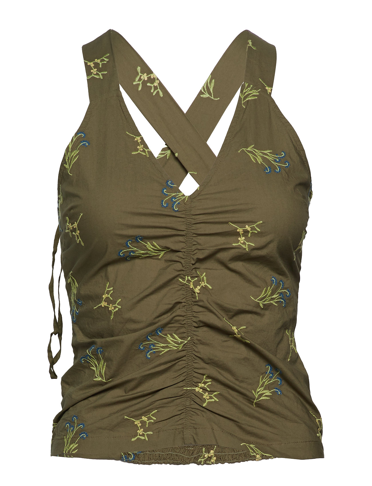 RODEBJER Amma Embroidery - GREEN SAFARI