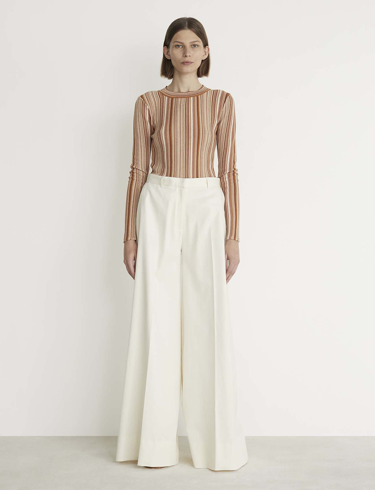 RODEBJER - RODEBJER VALA STRIPE - striped t-shirts - faded terracotta