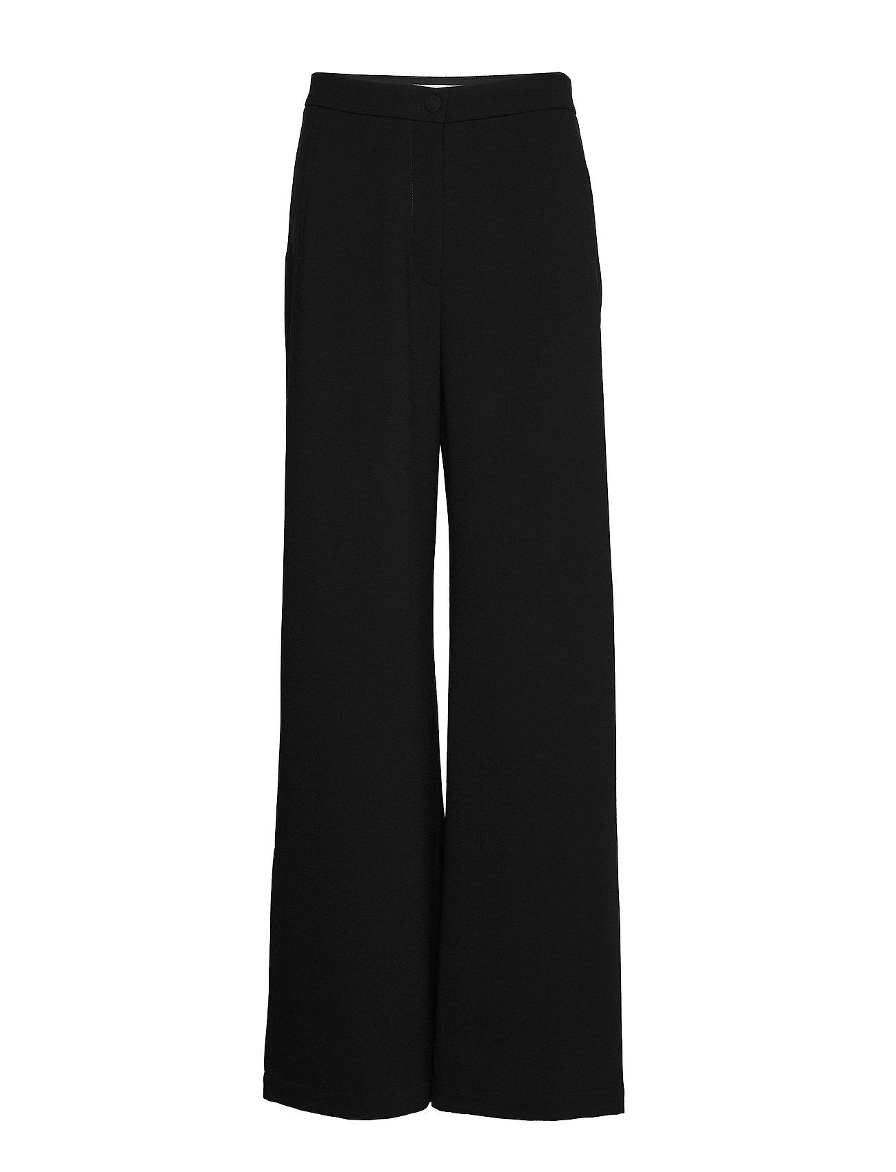 RODEBJER - SINI - bukser med brede ben - black - 0
