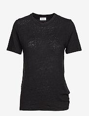 RODEBJER - Ninja Linen - t-shirts - black - 0