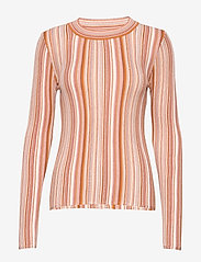 RODEBJER - RODEBJER VALA STRIPE - striped t-shirts - faded terracotta - 1