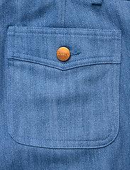 RODEBJER - PEACE WORKWEAR - leveälahkeiset housut - denim blue - 5