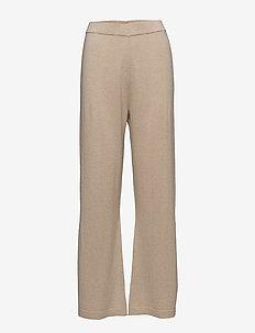 ROSELLE - vide bukser - oat melange