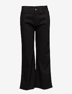 FARRAH - szerokie dżinsy - black