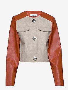 RODEBJER KAYLA - leather jackets - sand