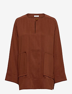 RODEBJER MAZIEL - long sleeved blouses - raw umbra